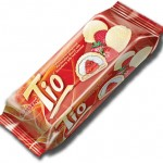 Tio Milk White Cocoa Coated Sandwich Biscuit with Marshmallow & Coconut & Strawbery Jelly